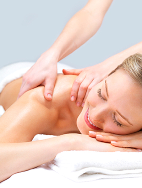 smiling lady massage