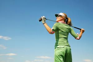 Golfing Woman