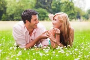 happy spring couple