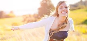 happy sunshine woman