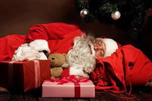 sleeping santa 1