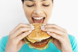 burger woman