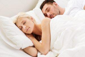 happy sleeping couple blonde