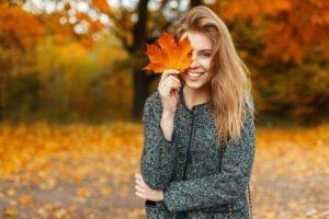 leaf eyed woman