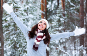30533797 - happy woman in a winter forest