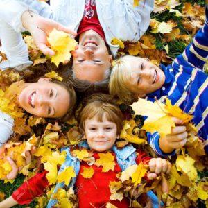 cute fall family
